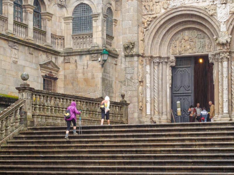 Portaal van las Platerias - Santiago de Compostela royalty-vrije stock foto's