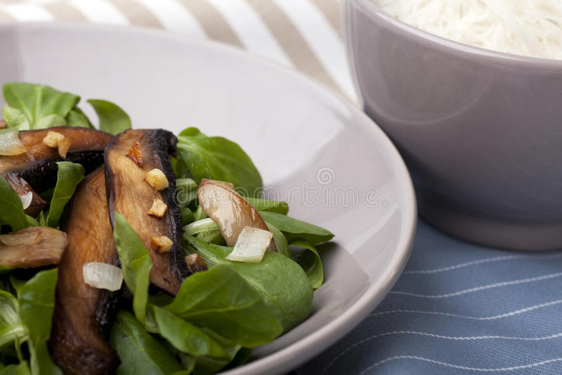 Portabello Mushroom Salad royalty free stock image
