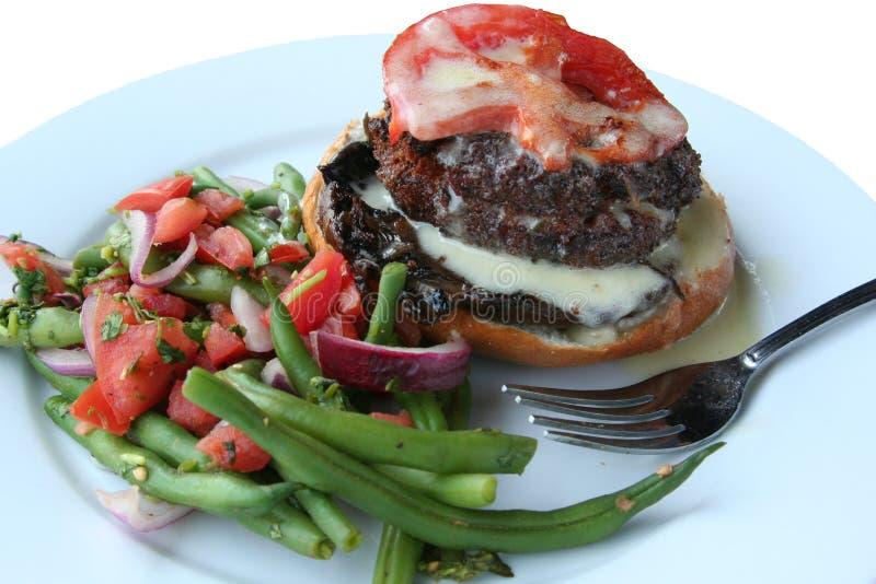 Portabelo do gourmet e sanduíche do queijo imagens de stock royalty free