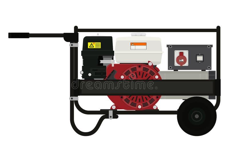 portable électrique de générateur illustration de vecteur