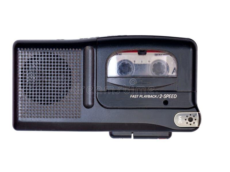 Portable analog voice recorder isolated on white background royalty free stock image