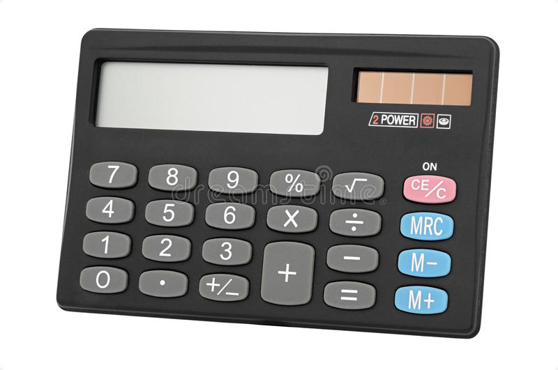 Portable calculator royalty free stock images