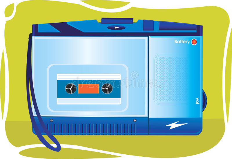 Download Portable Cassette Player On An Stock Vector - Image: 3495605