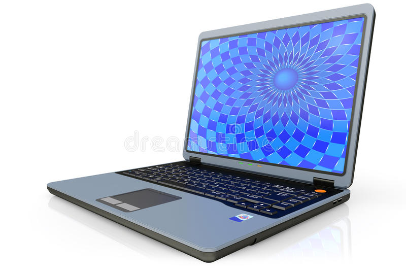 Download Portable computer laptop stock illustration. Illustration of portable - 22173177