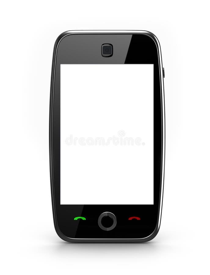 Portable d'écran blanc illustration de vecteur
