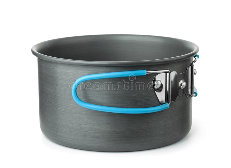Portable, der Topf kochend kampiert lizenzfreie stockfotografie