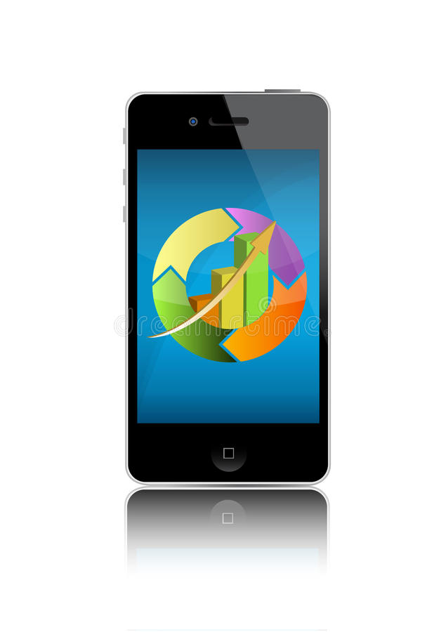 Download Portable Device With Graphs Stock Photo - Image: 21168940
