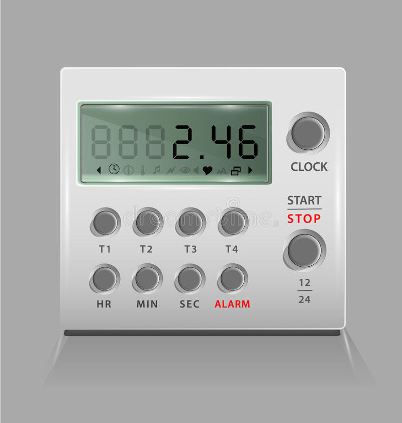 Portable Digital Timer Stock Image