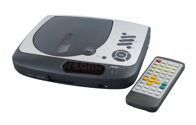 Portable DVD player. With clipping path royalty free stock photography