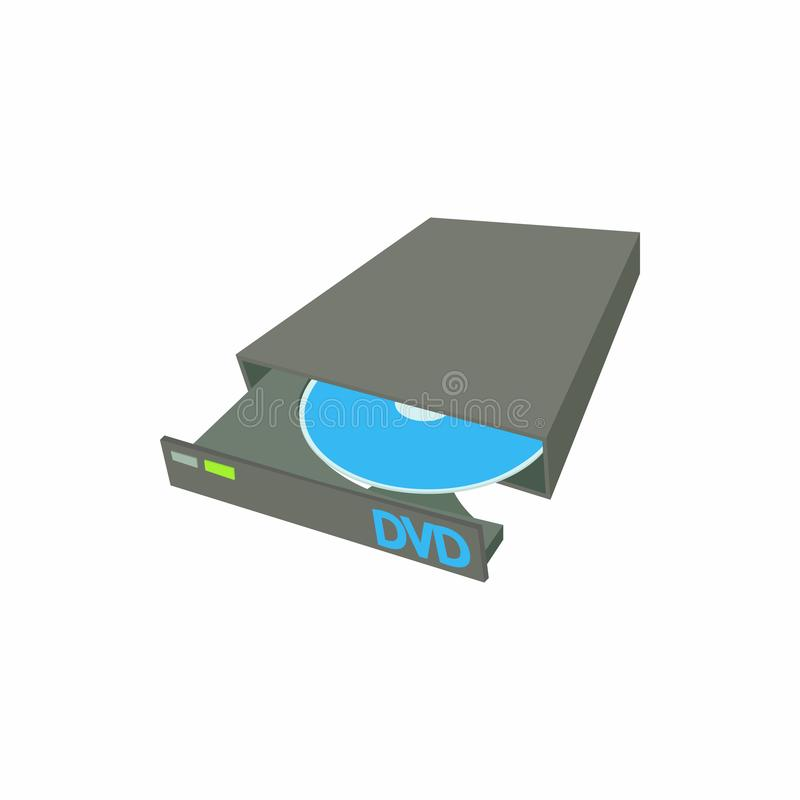 Portable externe Brenner-Verfasserikone CD DVD stock abbildung