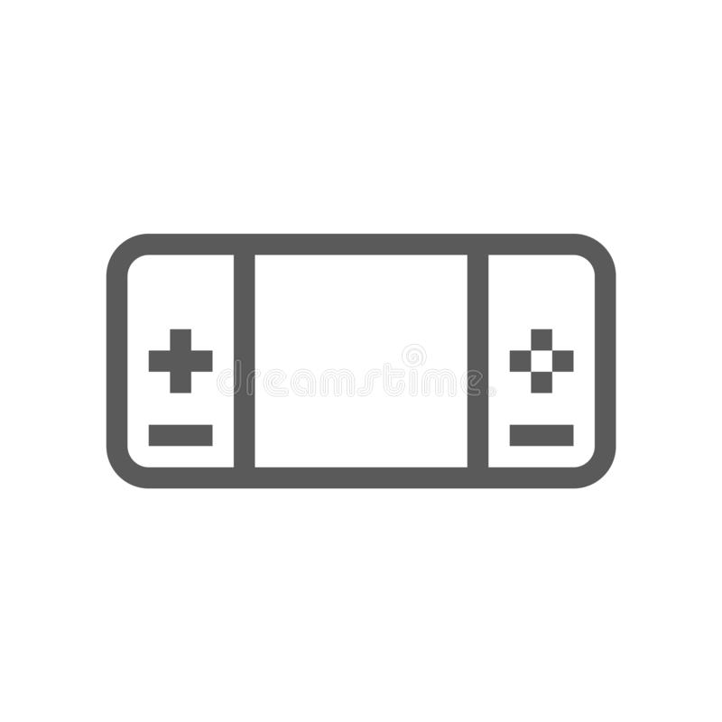 Portable Game Console. Electronic Devices Vector Line Icon. Editable Stroke. 48x48 Pixel Perfect.  stock illustration