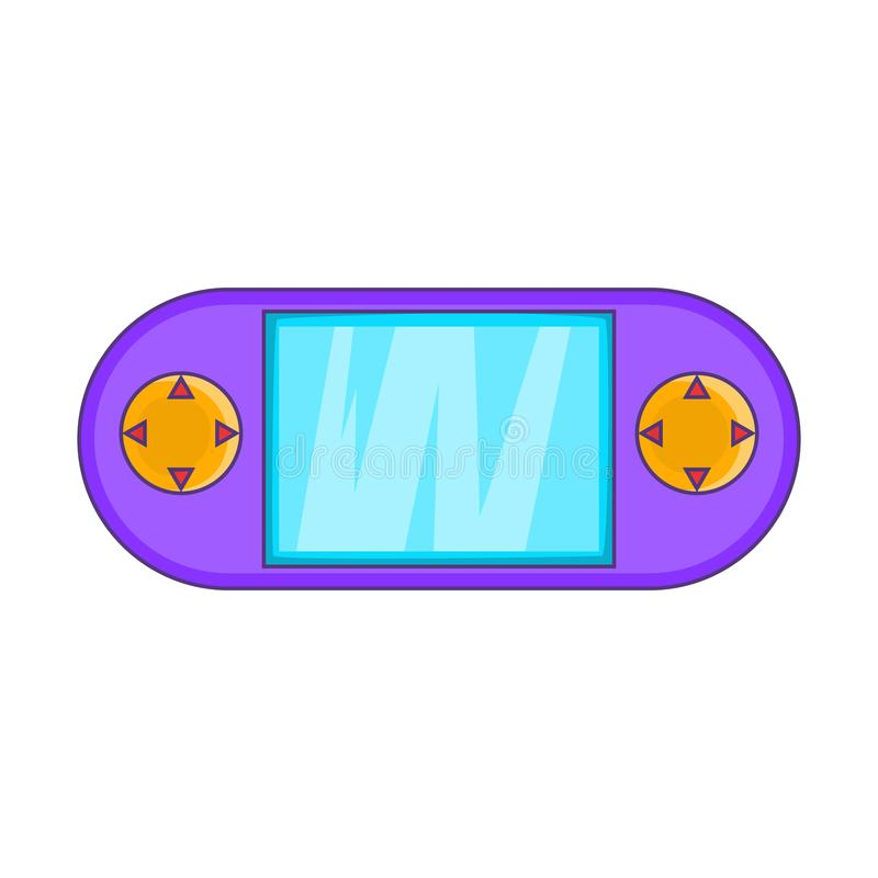 Portable game console icon, cartoon style. Portable game console icon. Cartoon illustration of console icon for web design vector illustration