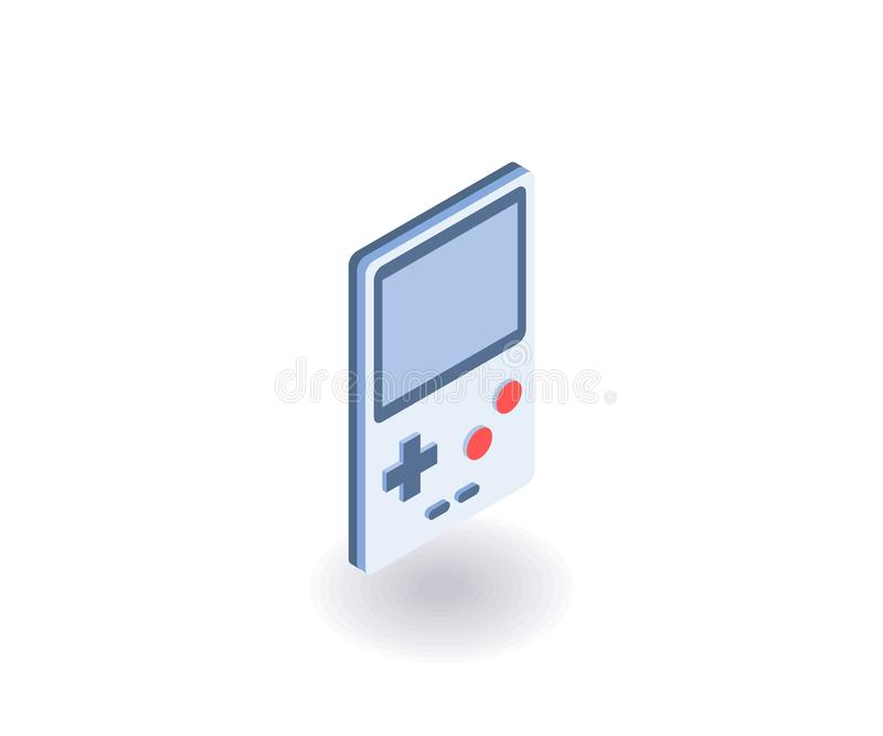 Portable game console isometric icon. Vector 3D illustration for web design.  vector illustration