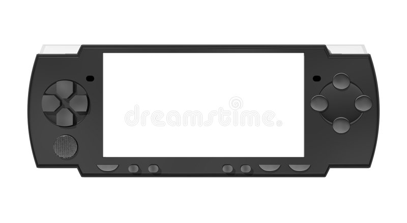 Portable Gaming System royalty free illustration