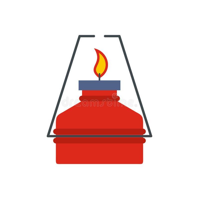 Portable gas burner flat icon stock illustration