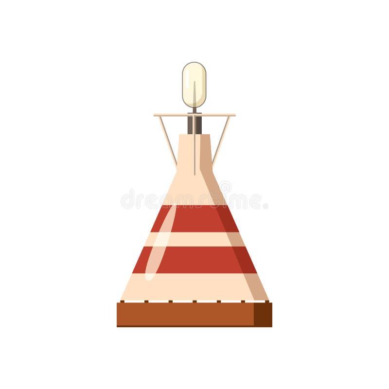 Portable gas burner icon, cartoon style stock illustration