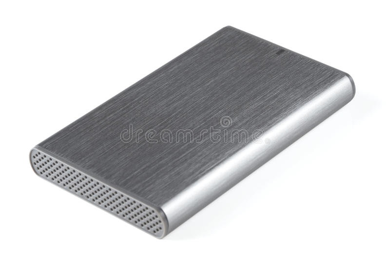 Download Portable hard disk drive stock image. Image of aluminium - 14370323
