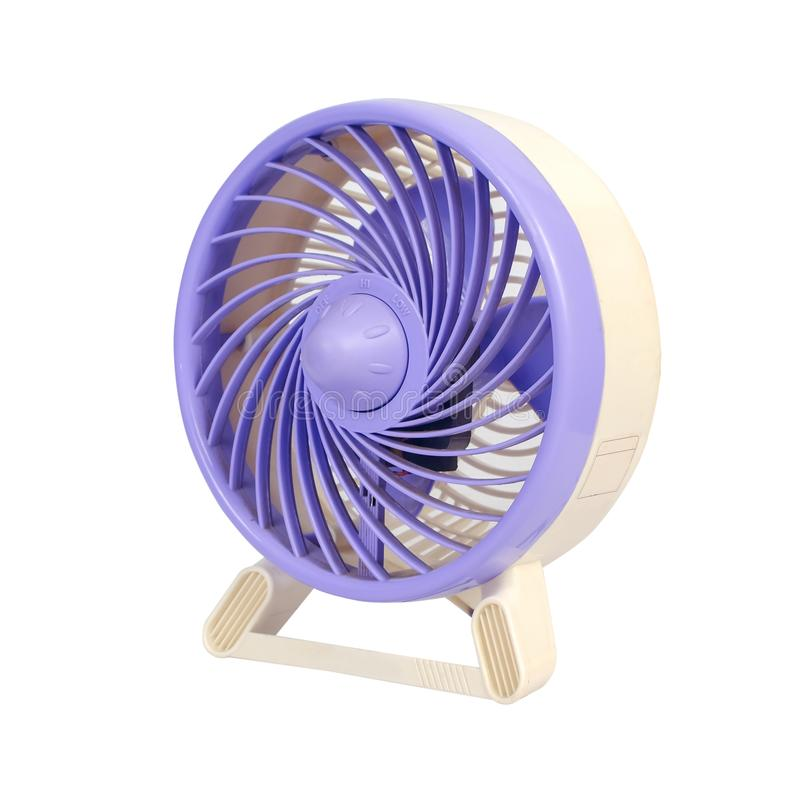 Portable Mini Fan on white royalty free stock image