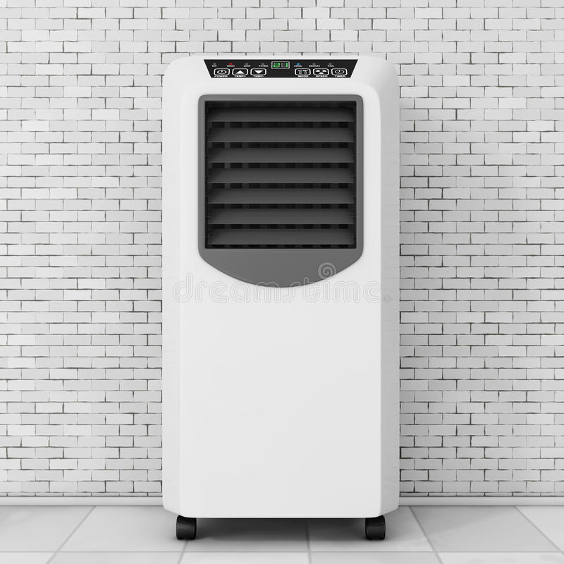 Portable Mobile Room Air Conditioner. 3d Rendering royalty free illustration