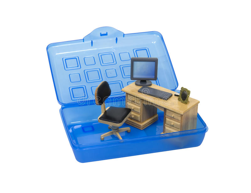 Portable Office Royalty Free Stock Images
