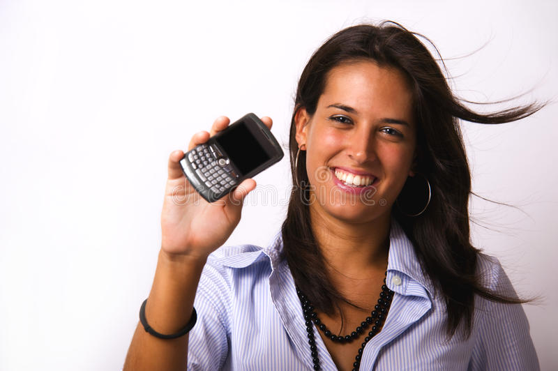 Download Portable phone stock photo. Image of brunette, cellphone - 10529070