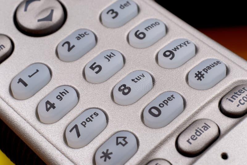 Portable phone key-pad detail royalty free stock photography