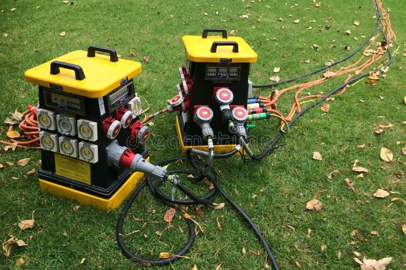Portable power distribution units stock image