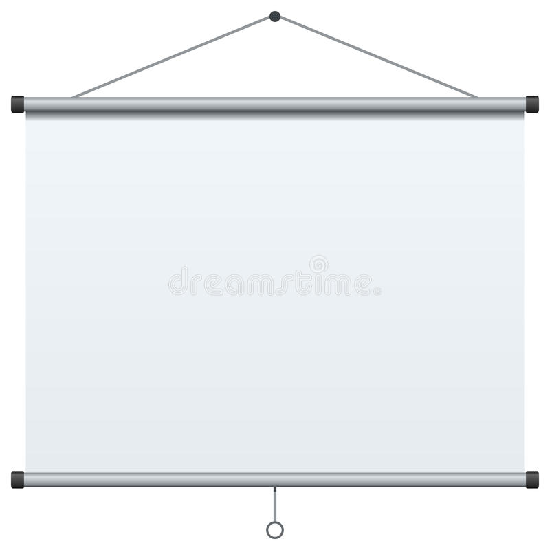 Portable Projection Screen vector illustration