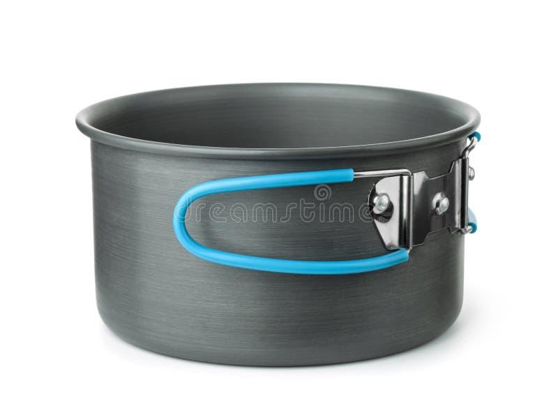 Portable que acampa cozinhando o potenci?metro fotografia de stock royalty free