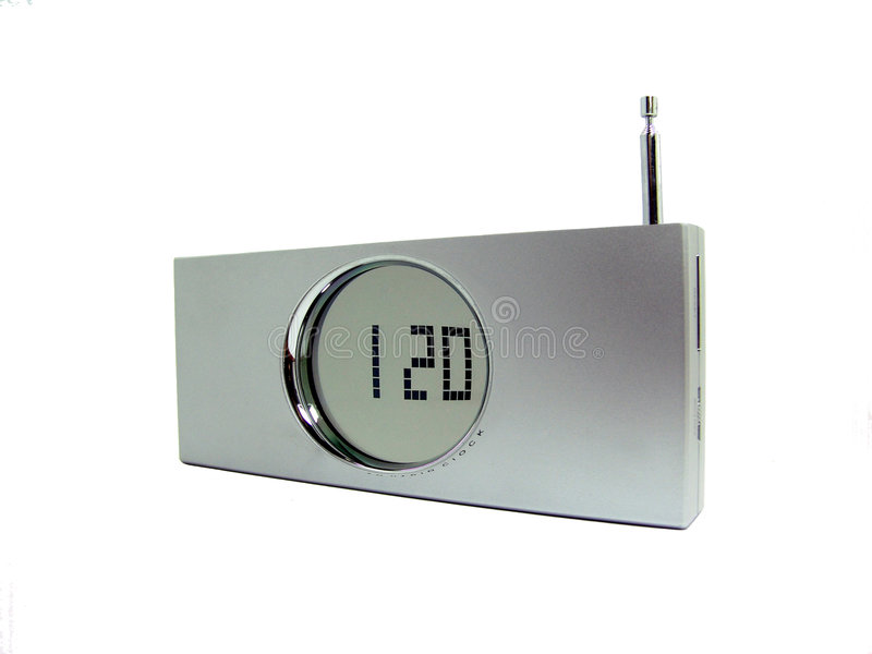 Portable radio with digital clock royalty free stock photos