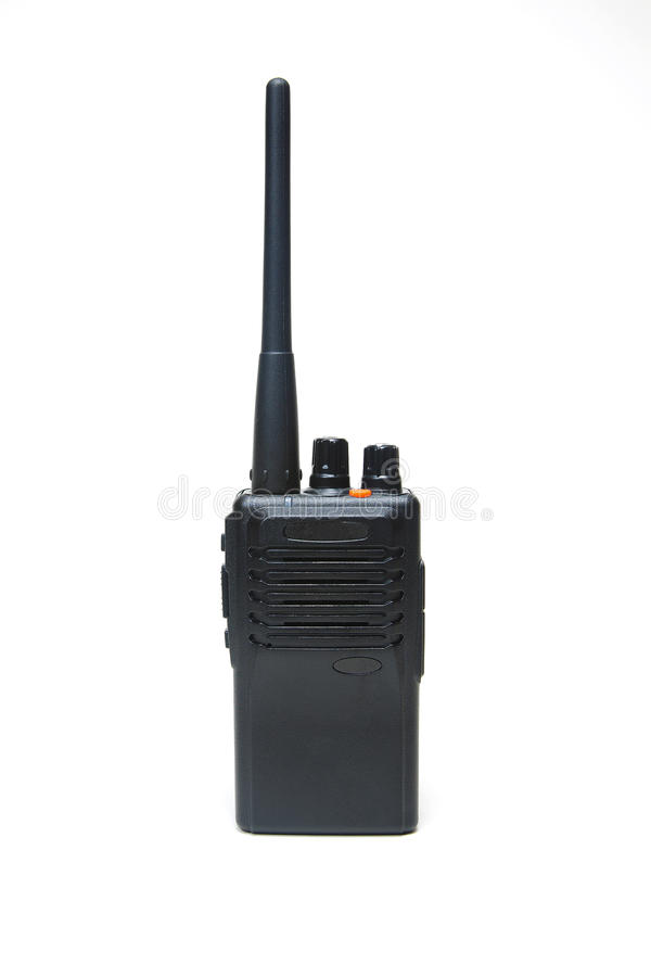 Download Portable radio set stock image. Image of speaker, black - 18665991