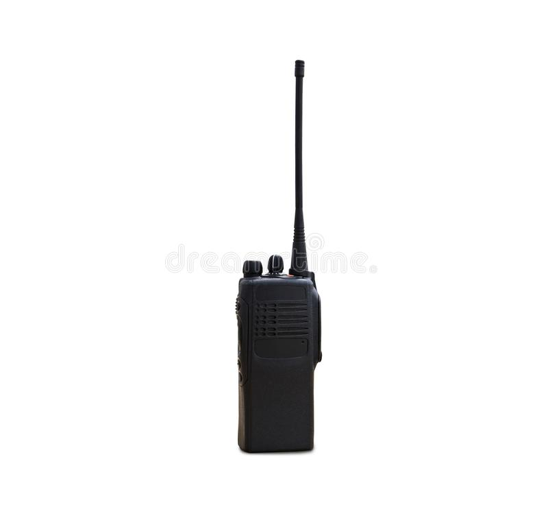 Portable radios Walkie-talkie on white. Transmitter, radio, portable radio, set, portable radio set, portable radio transmitter, walkie talkie stock photography
