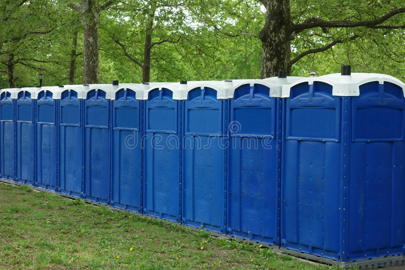 Portable Restrooms stock images