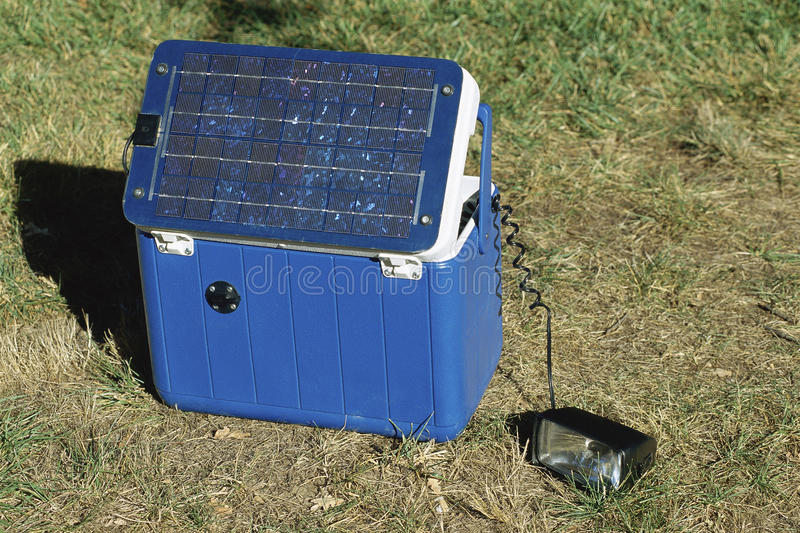 Download Portable solar power pack stock photo. Image of green - 23161800