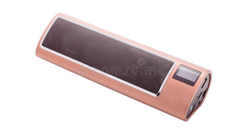 Portable speaker isolated on white. Background royalty free stock photography