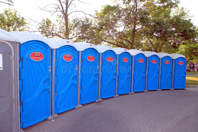 Download Portable Toilets editorial photo. Image of facility, closet - 25754801