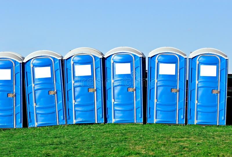 Portable toilets stock photography