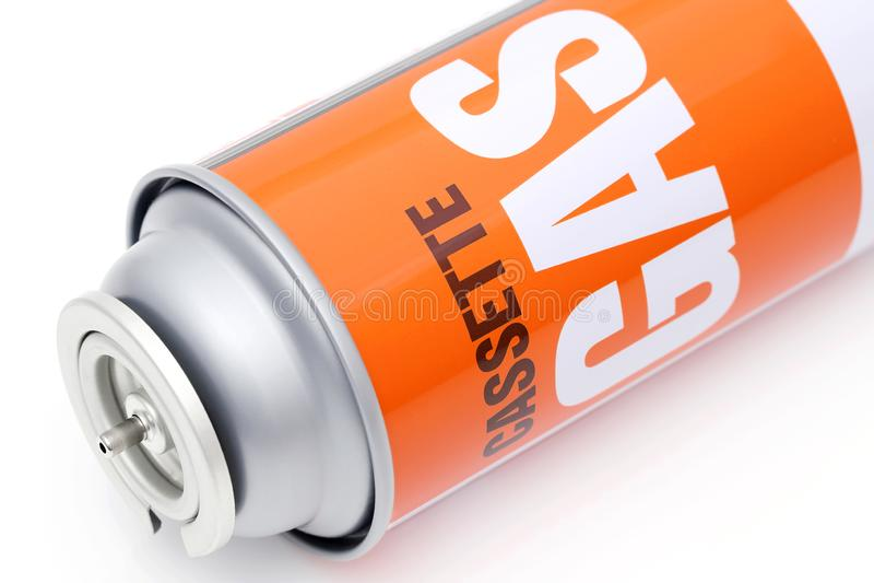 Portable tourist gas cylinder for a burner vector illustration