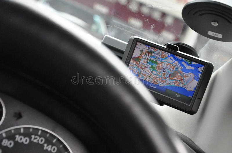 Portable In-vehicle GPS Navigation System (Ver1/2) royalty free stock image