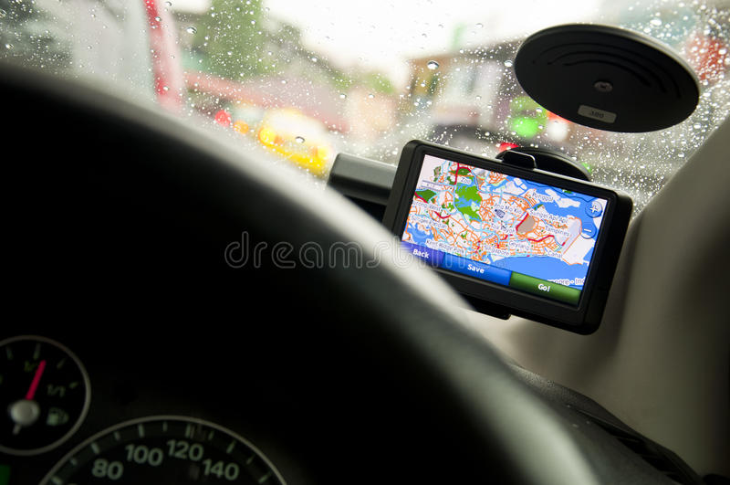 Download Portable In-vehicle GPS Navigation System (Ver2/2) Stock Photo - Image: 12253000