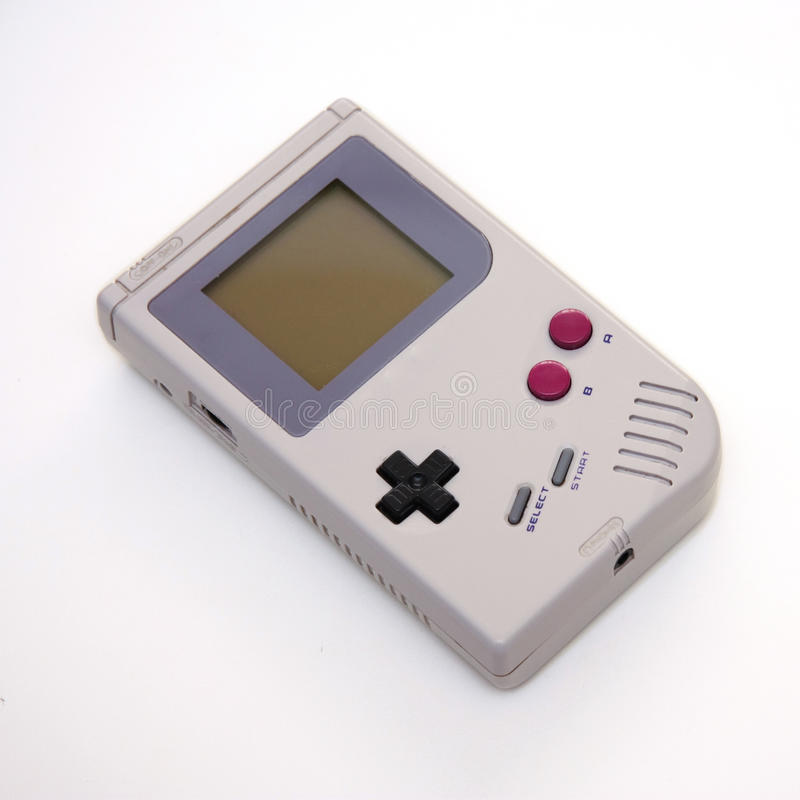 Portable video game console. Photo of a retro, portable video game console royalty free stock photos