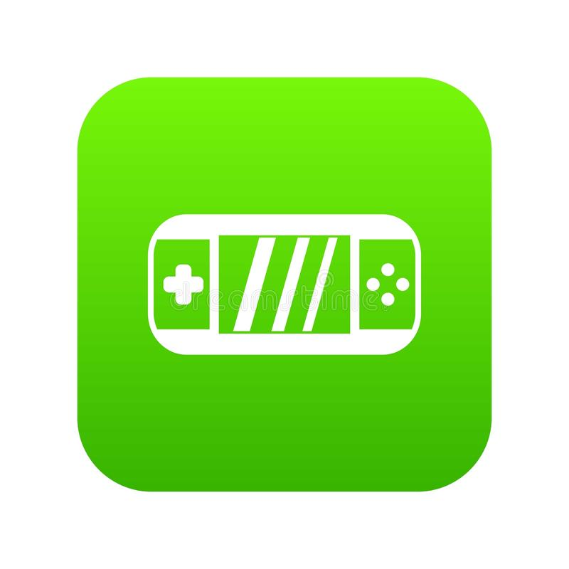 Portable video game console icon digital green. For any design isolated on white vector illustration royalty free illustration