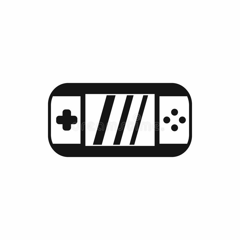 Portable video game console icon, simple style. Portable video game console icon in simple style on a white background stock illustration