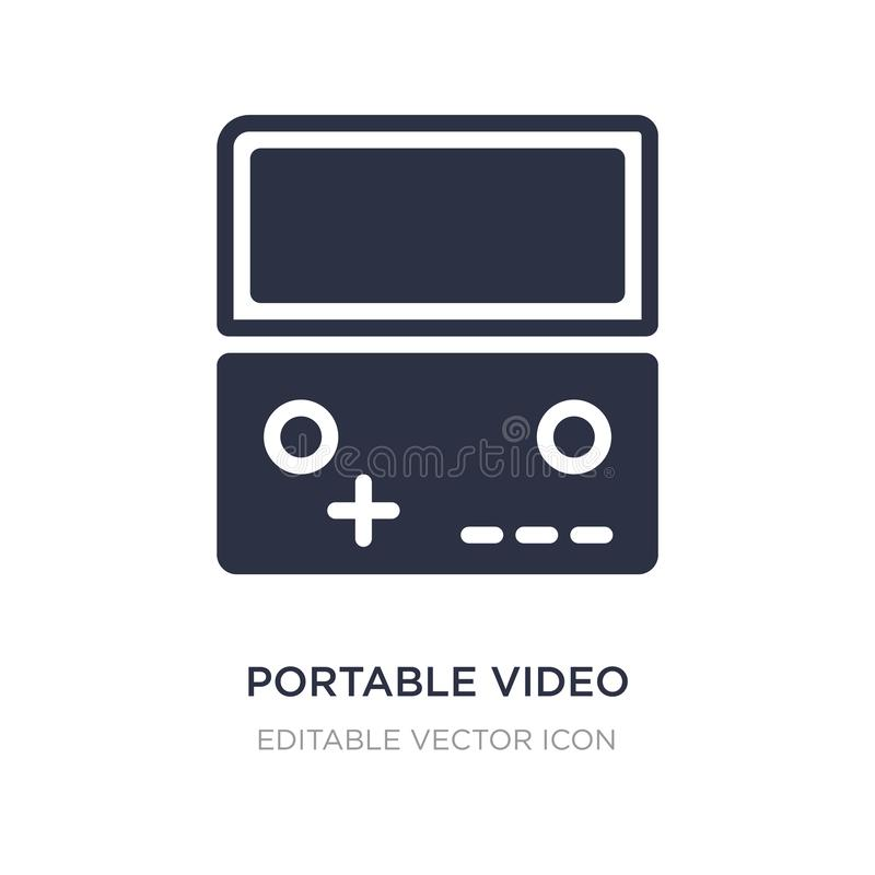 Portable video game console icon on white background. Simple element illustration from Multimedia concept. Portable video game console icon symbol design vector illustration