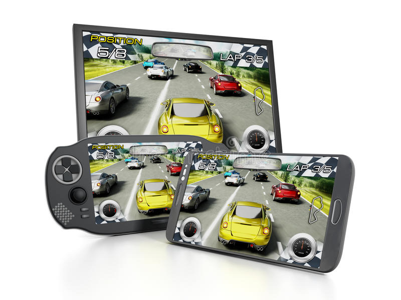 Portable video game device vector illustration