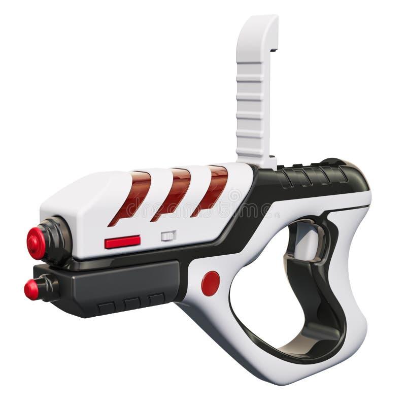 Portable Virtual AR Game Gun, 3D rendering. Isolated on white background stock illustration