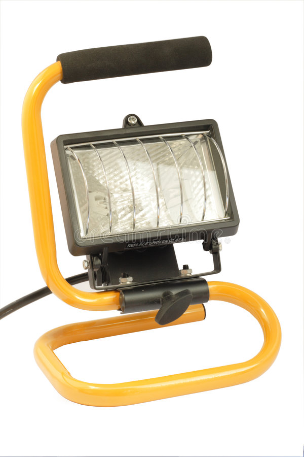 Portable workers light stock photos