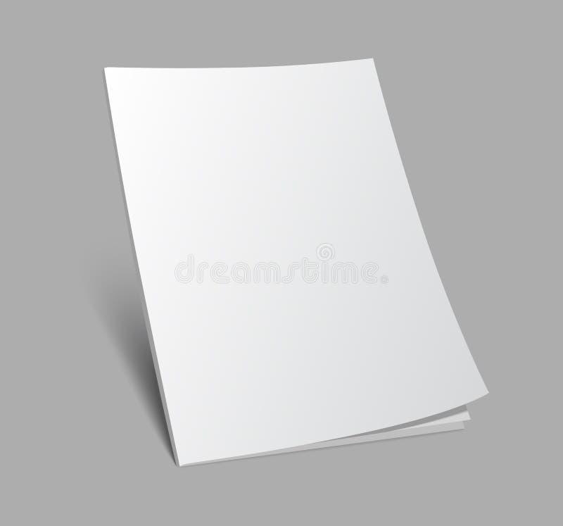 portada de revista derecha del espacio en blanco 3d stock de ilustración