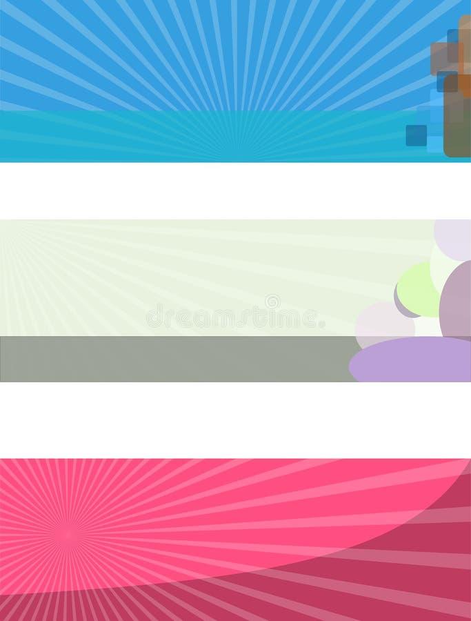 Portada del web ilustración del vector