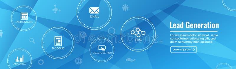 Portada del web de la generación de la ventaja - atraiga las ventajas para el AUD de la blanco stock de ilustración
